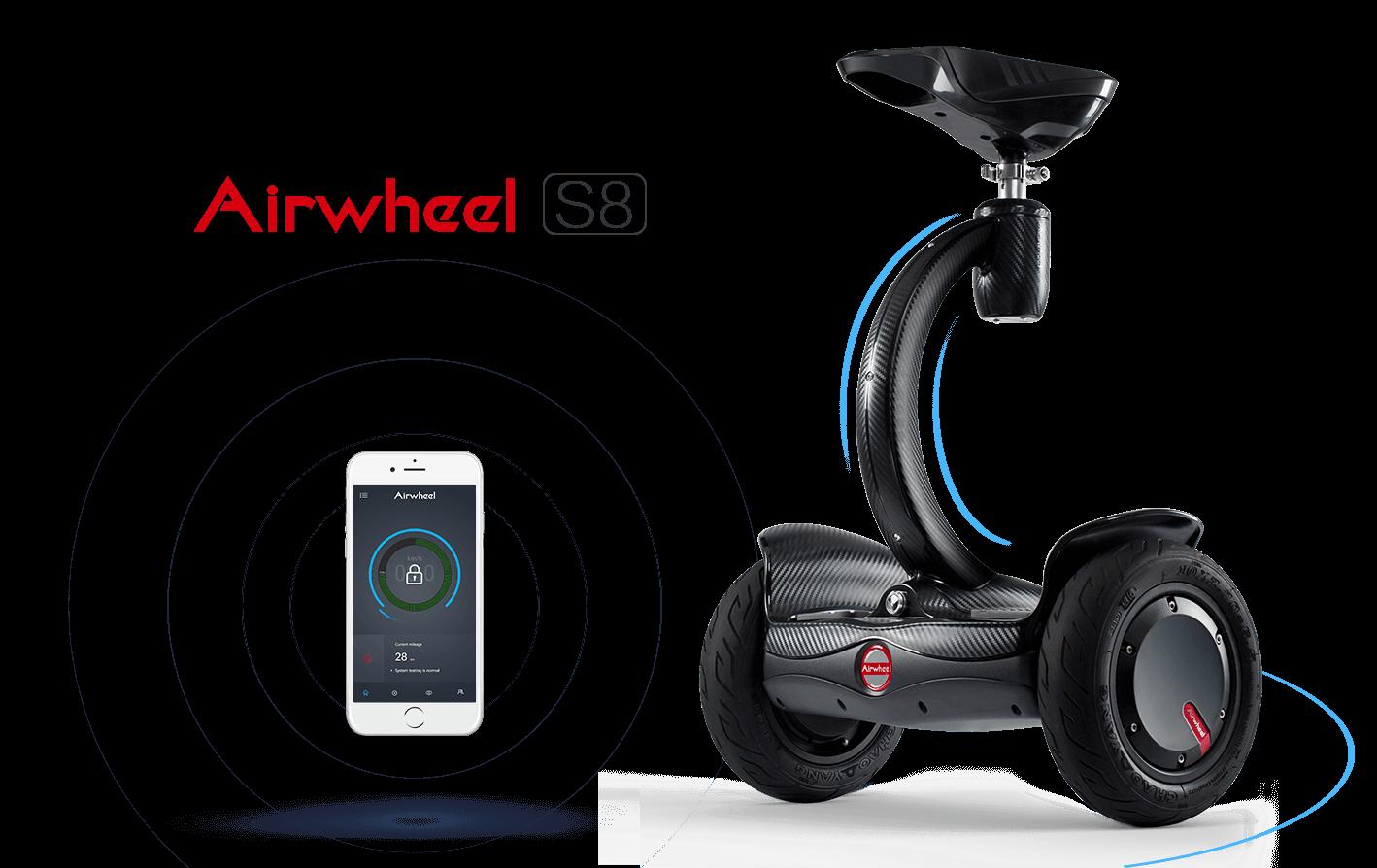 airwheel s8 wei elektrisches hoverboard mit sitz und. Black Bedroom Furniture Sets. Home Design Ideas